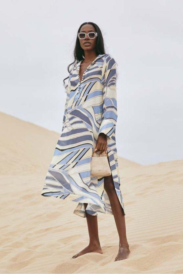 INGA DRESS BLUE WAVE TOP