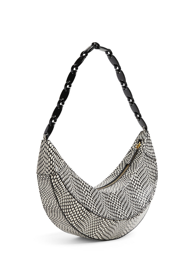 REJINA PYO LEATHER POLKA SNAKE BAG