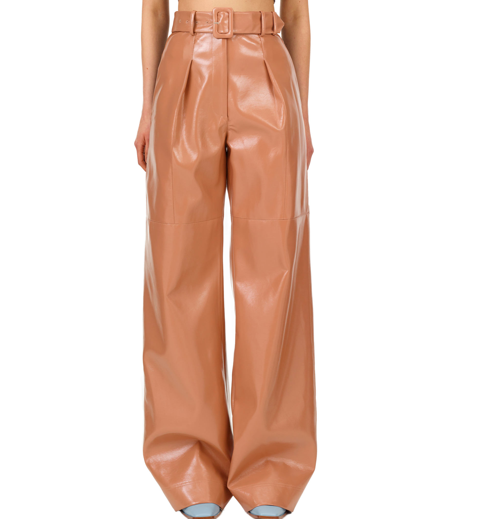 149N PATENT FAUX LEATHER TROUSERS