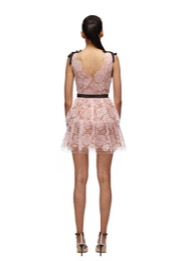 135S STARLET MINI ROSE LACE MIDI DRESS