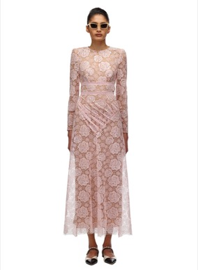 008 ROSE LACE MIDI DRESS