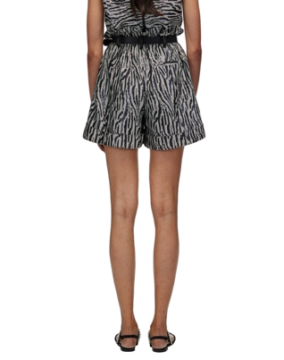 060 ZEBRA SEQUIN HIGH WAISTED SHORTS